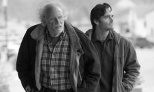"Bruce Dern (Woody) and Will Forte (Dave) in Alexander Payne's ""Nebraska""."